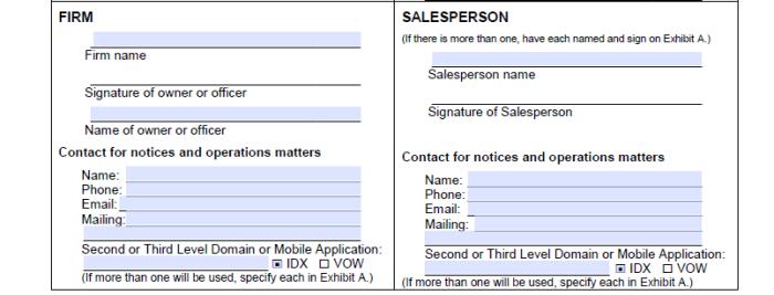 MLS approval paperwork