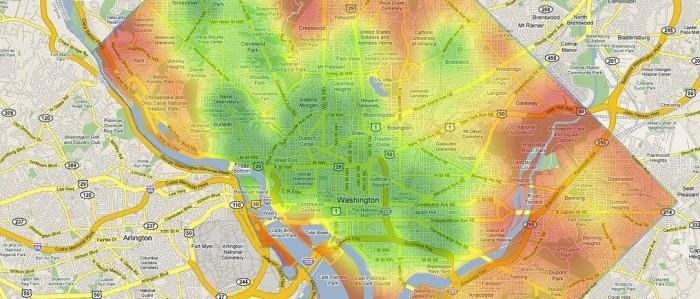 Walkability Score Washington DC