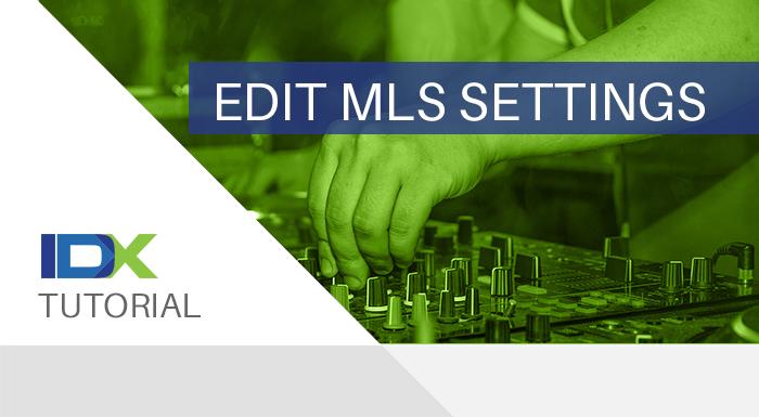 edit mls settings