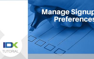 manage signup preferences