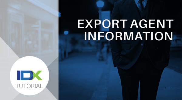 export agent information
